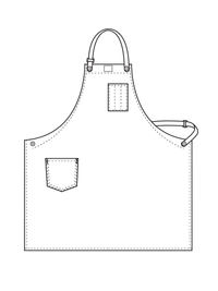 workShop aprons with removable leather strap illustration