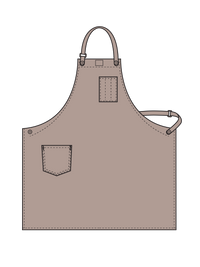 workShop aprons with removable leather strap illustration - color