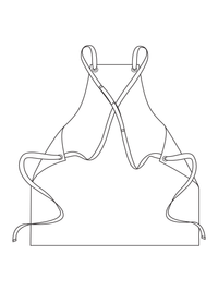 Cross Back Woodworking Apron Illustration