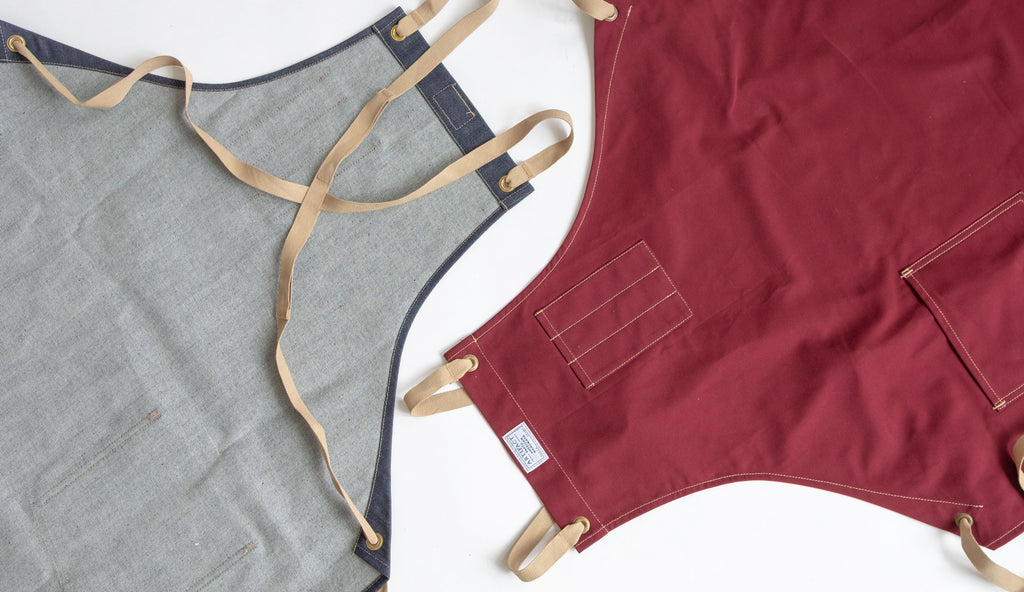 cross back apron flat lays