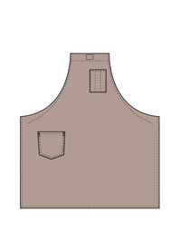 shaded leather strap universal cooking apron illustration