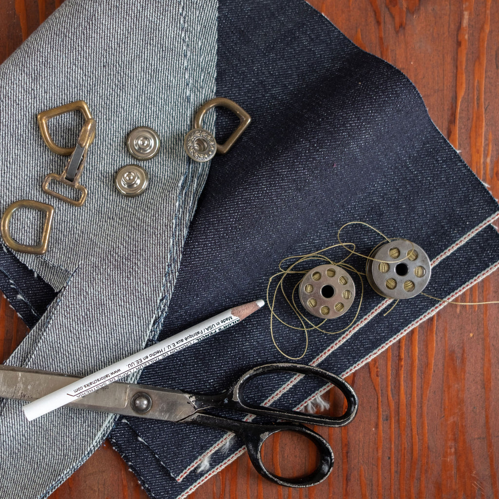 denim shop apron material