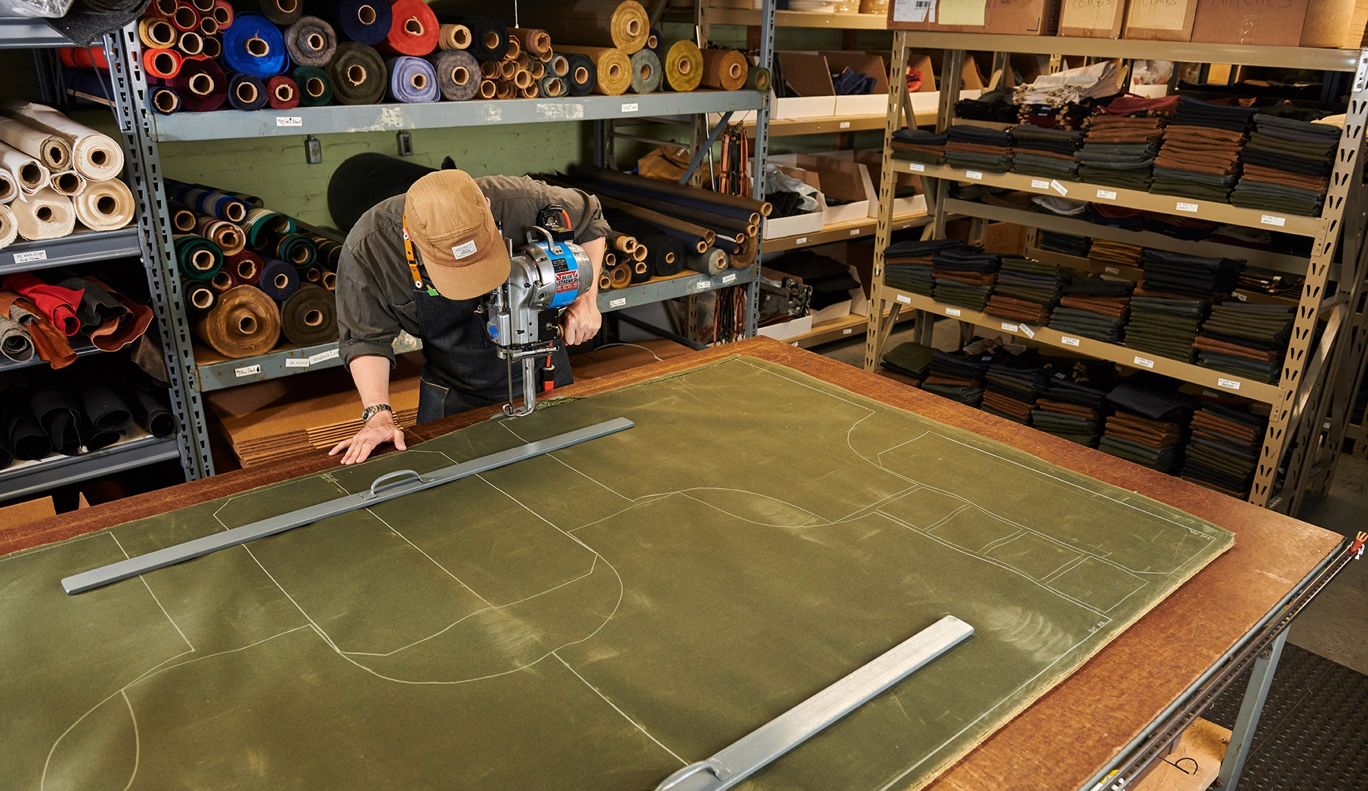Artifact's Omaha Studio - Cutting Wax Canvas For Aprons