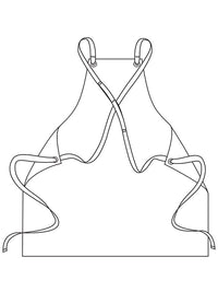 cross back cooking apron illustration