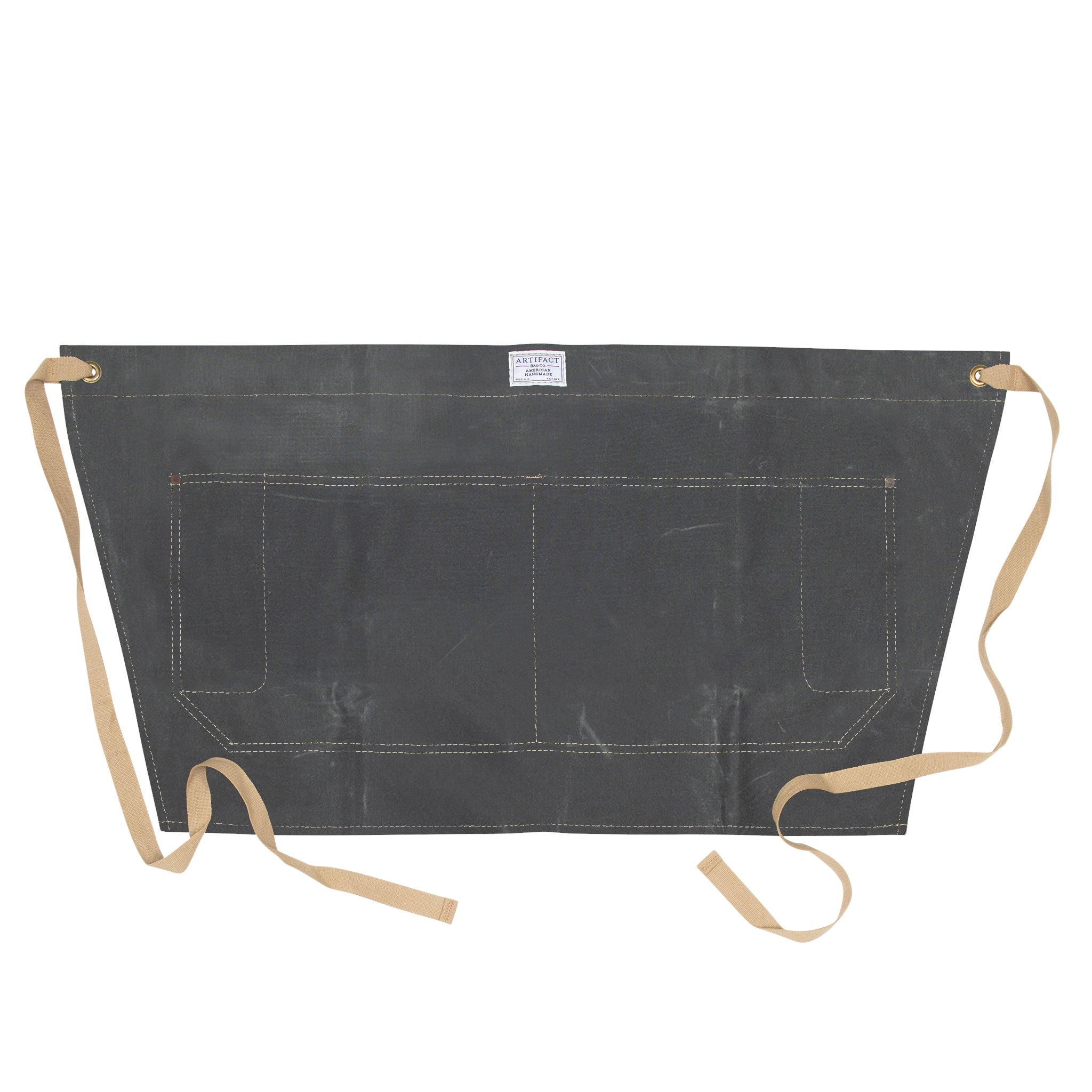 Artifact Slate Wax Cotton Waist Apron