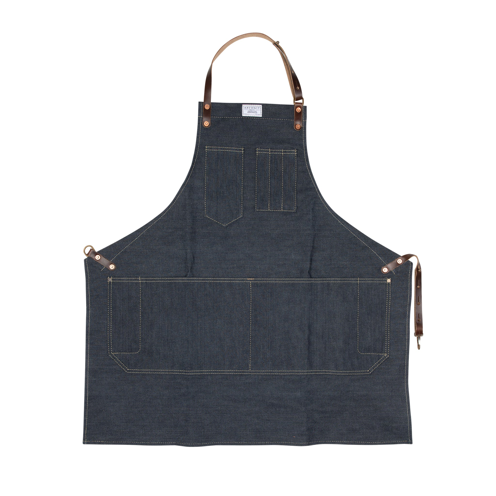 Artifact Kurabo Denim Kurabo Denim Apron w/ Fixed Leather Strap