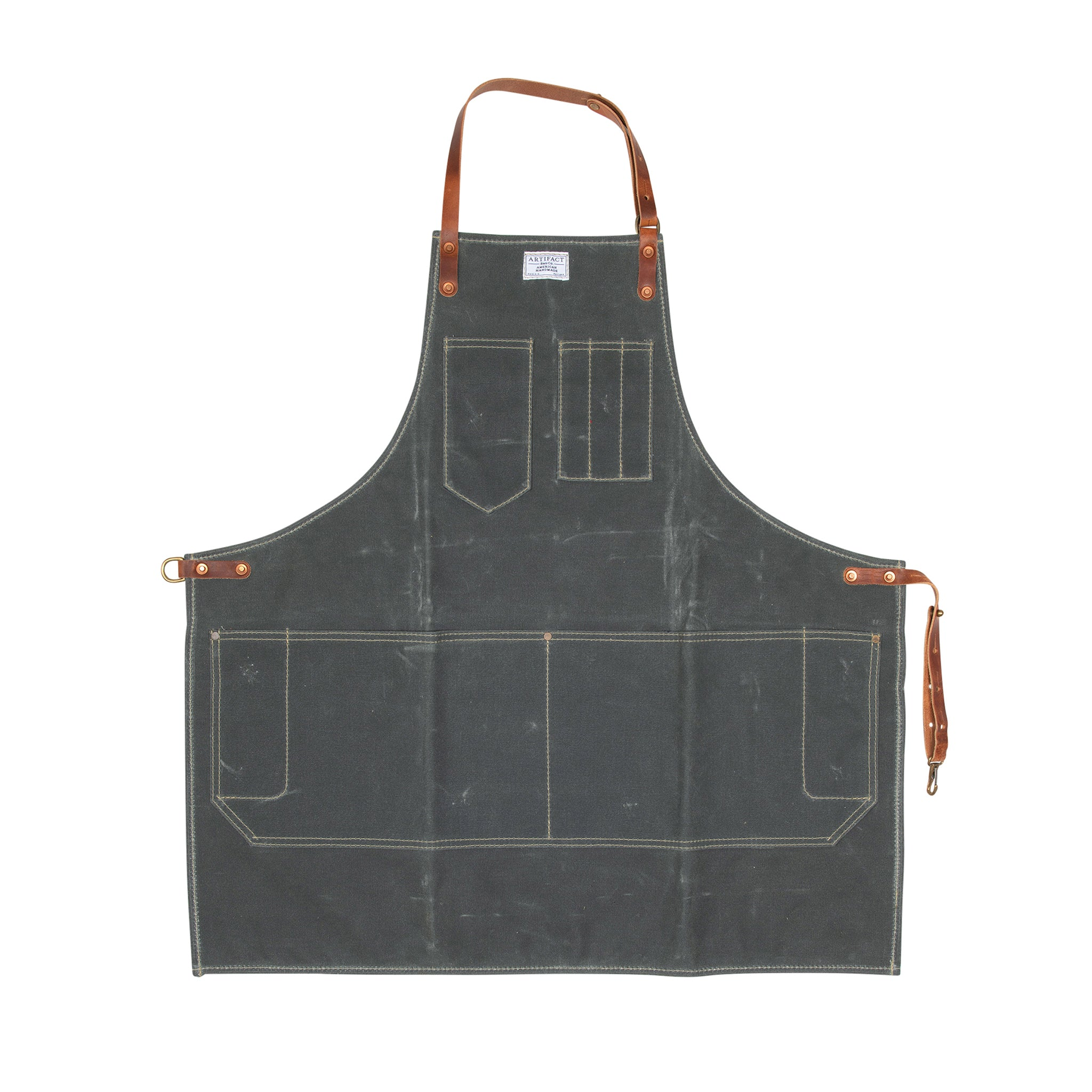 Artifact Olive Wax Canvas Apron w/ Fixed Leather Strap