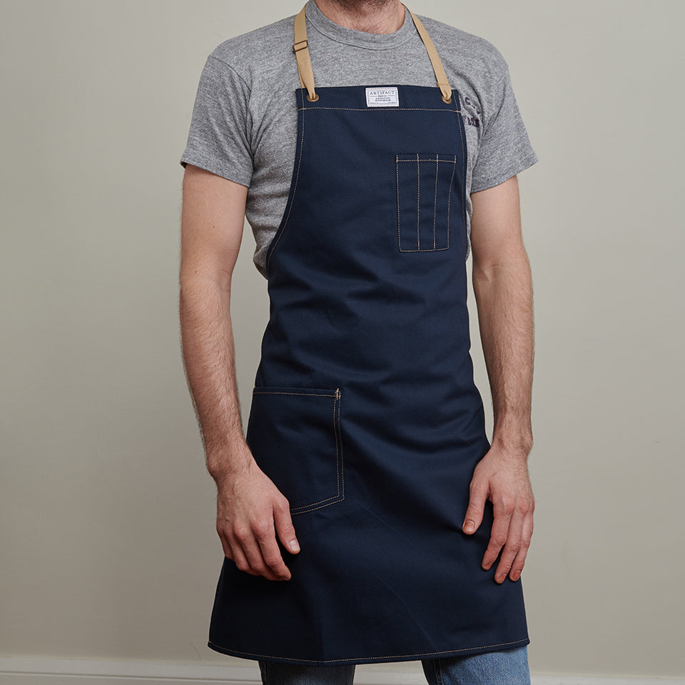 Artifact Wine Brushed Twill Apron w/ Cotton Neck Slider