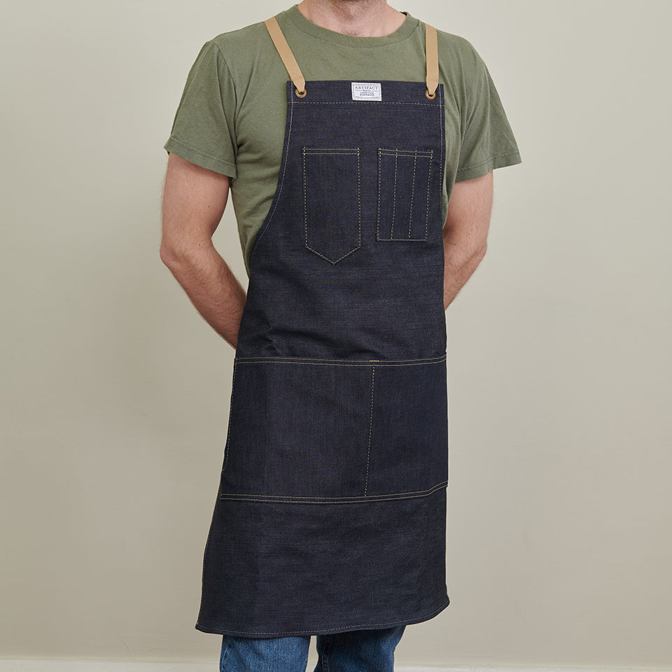 Artifact Kurabo Denim Kurabo Denim Apron w/ Cotton Cross-Back Ties