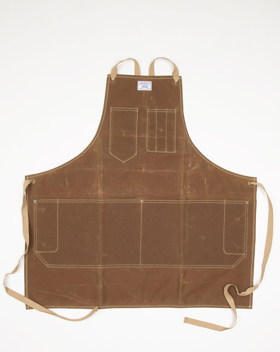 ARTIFACT Rust Wax Canvas Apron w/ Cotton Crossback Ties SMALL - SALE