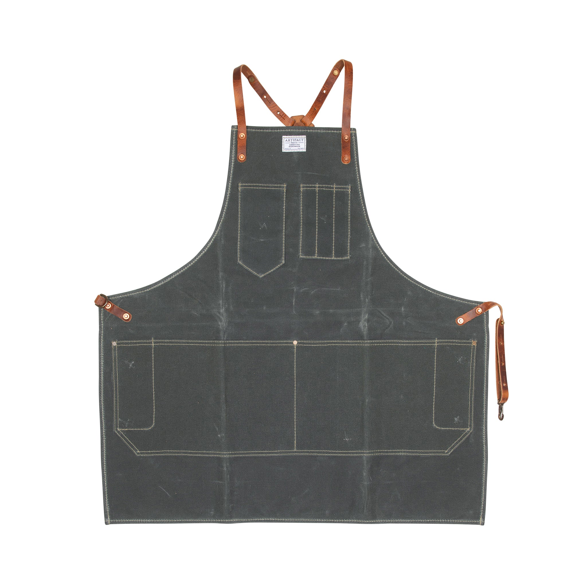 Wax Canvas Artisan w/ Leather Y-Strap - Artifact Aprons 7