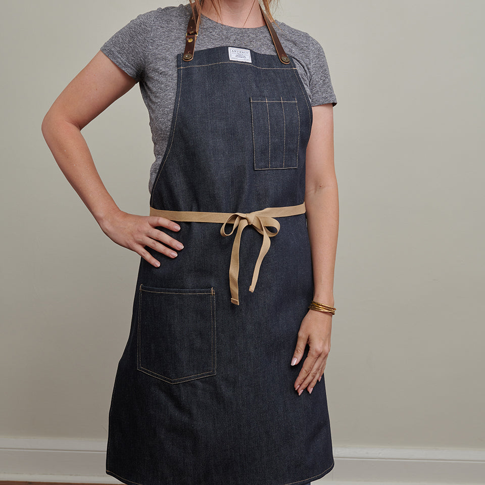 Kurabo Denim Culinary Apron w/ Universal Fit