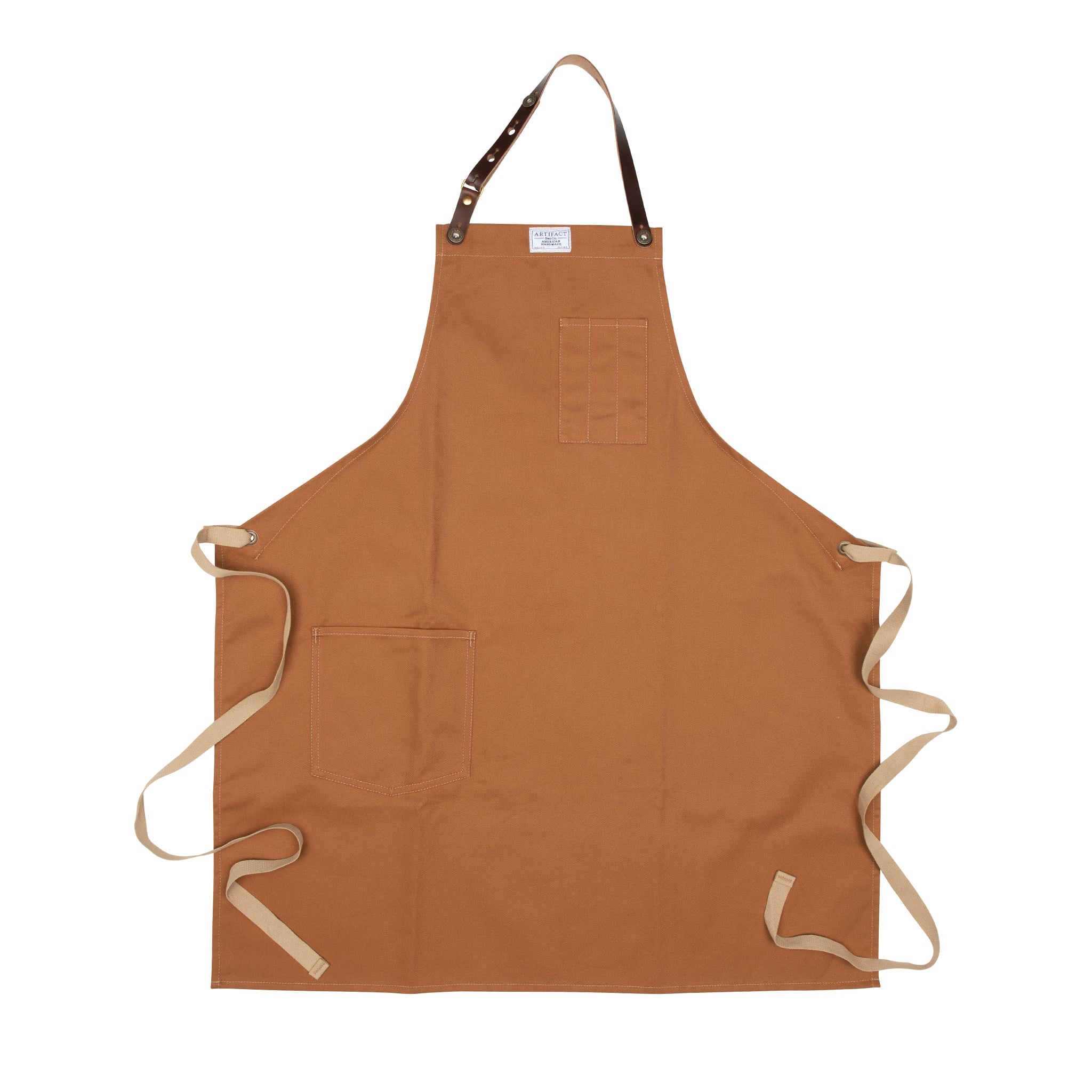 Artifact Copper Brushed Twill Apron w/ Leather Leather Strap - Universal Fit