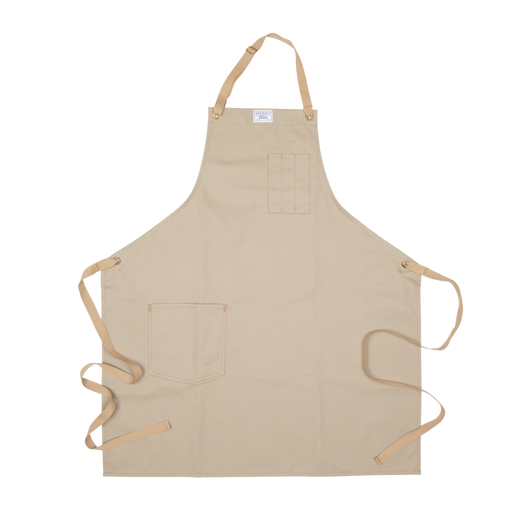 Artifact Slate Brushed Twill Apron w/ Cotton Neck Slider