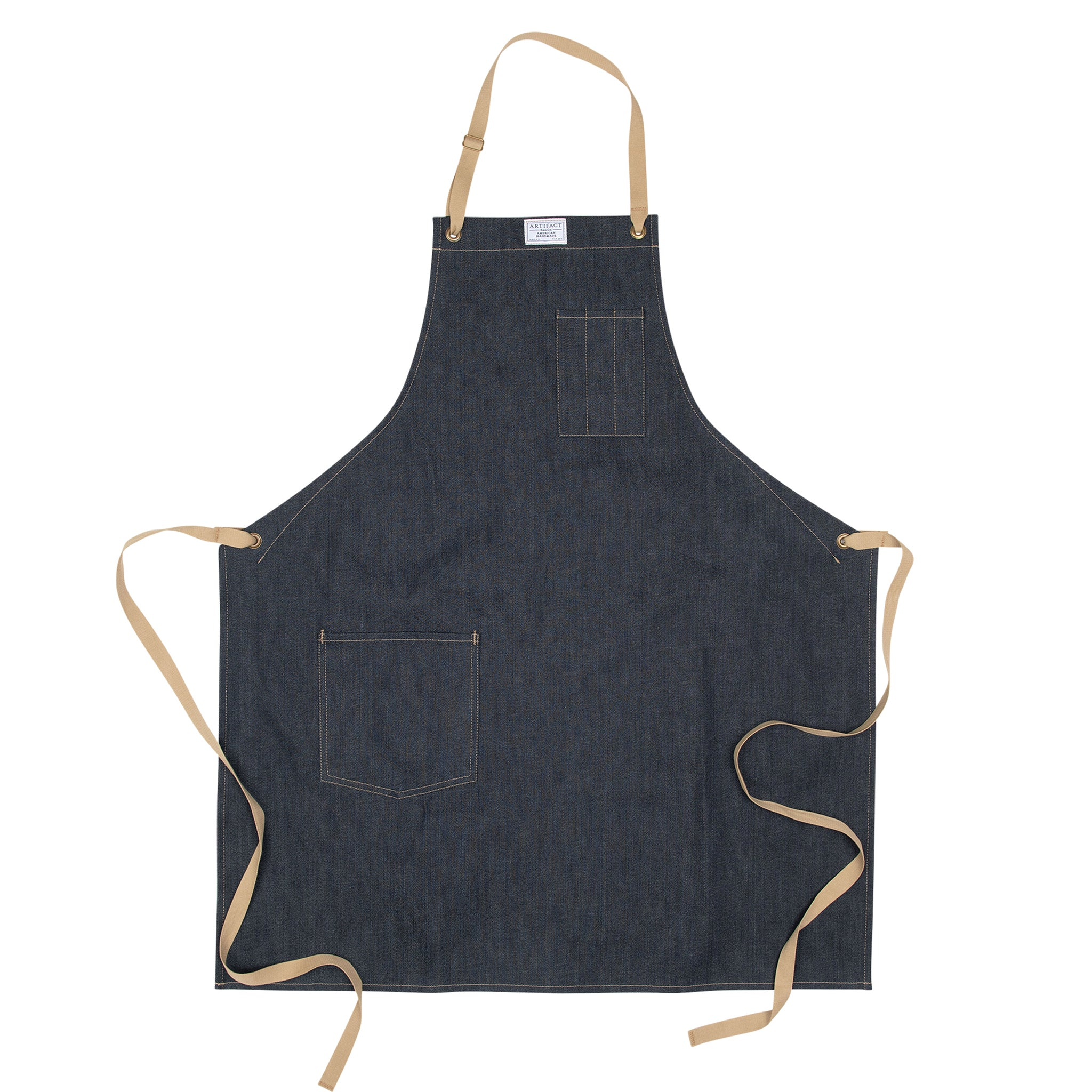 Kurabo Denim Culinary Apron w/ Neck Slider