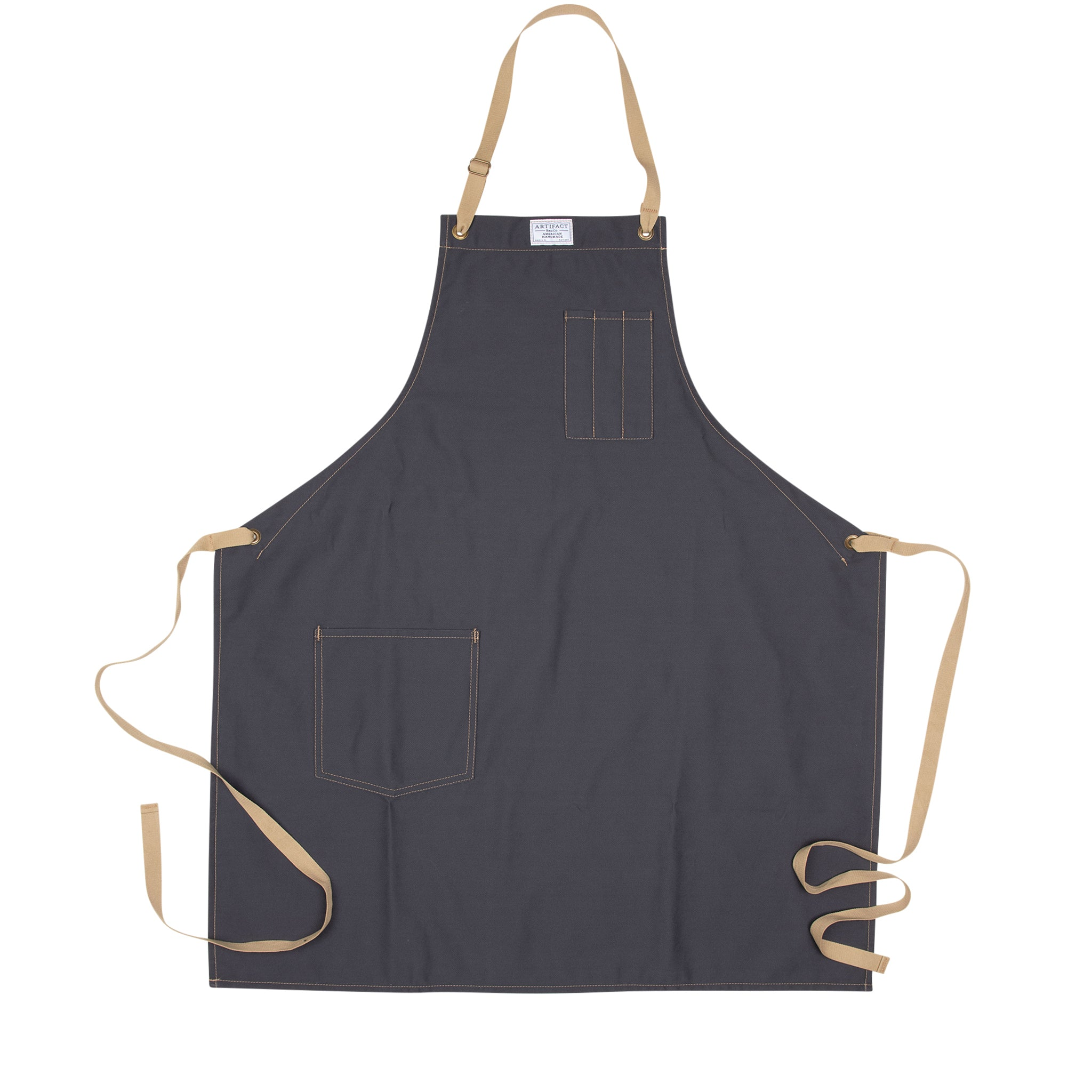 Artifact Navy Brushed Twill Apron w/ Cotton Neck Slider