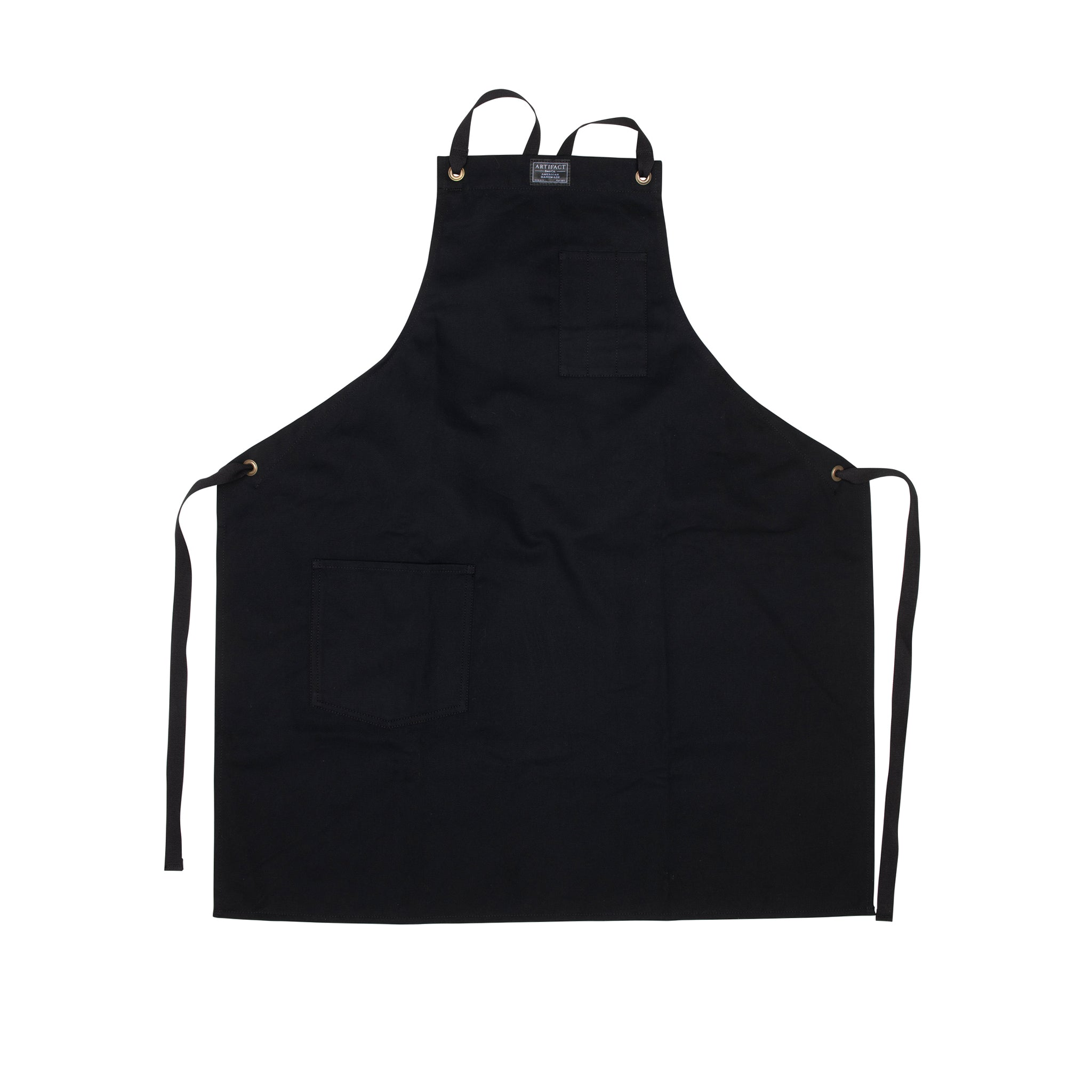 Brushed Twill Apron w/  Cotton Cross-Back Ties 8
