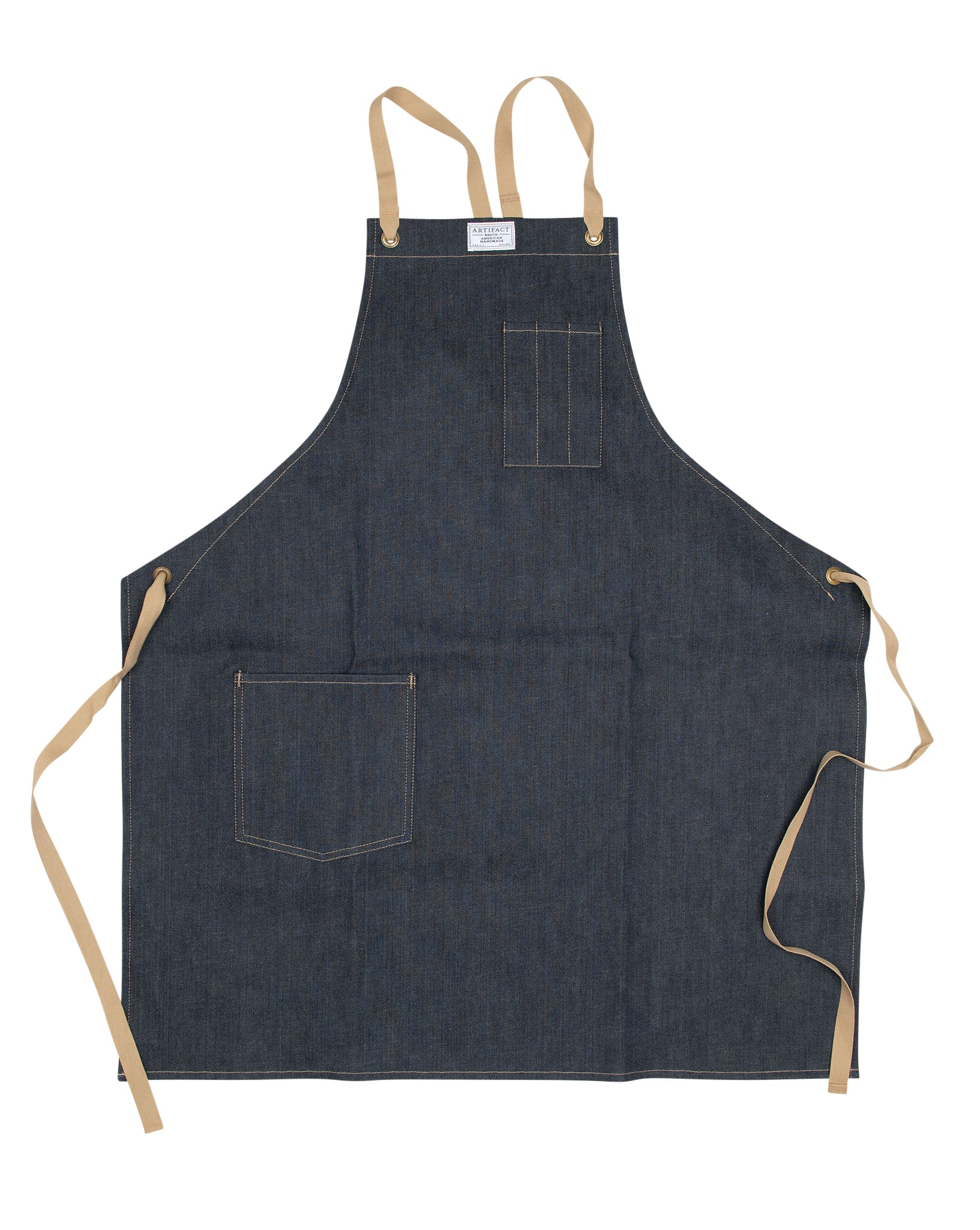 Kurabo Denim Apron w/ Cotton Cross-Back Ties 1