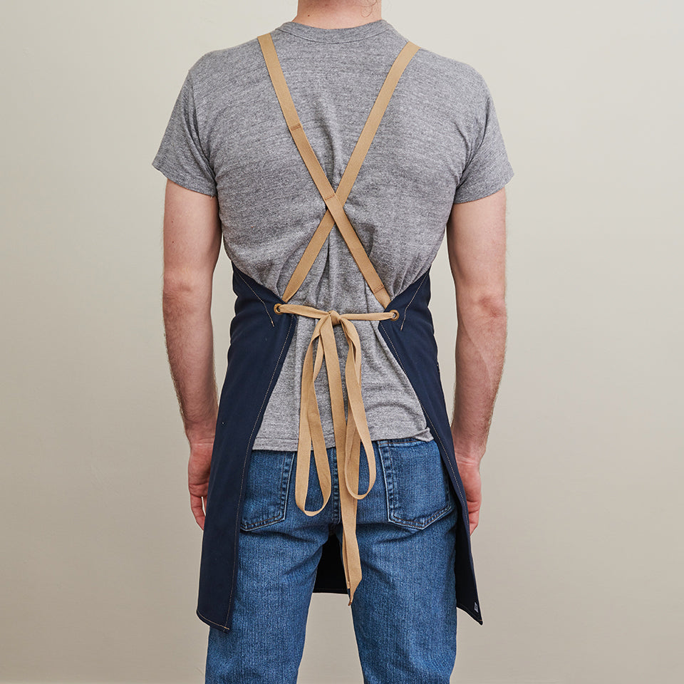 Brushed Twill Apron w/  Cotton Cross-Back Ties 5