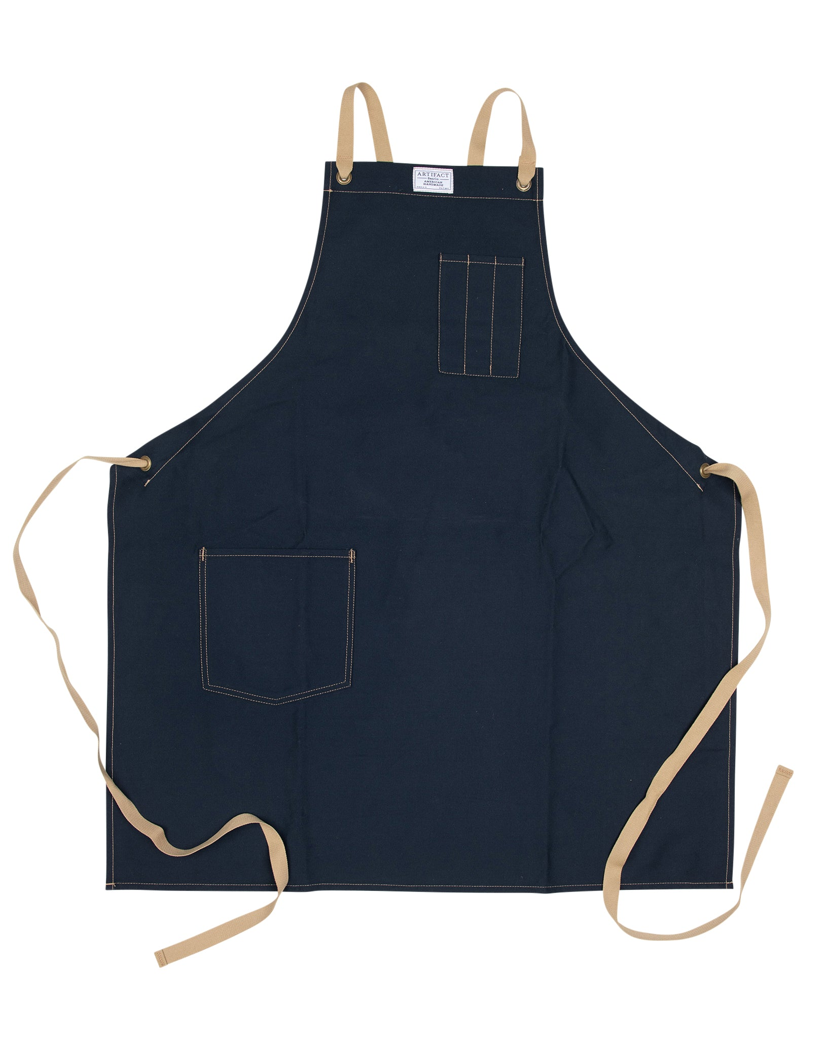 Brushed Twill Apron w/  Cotton Cross-Back Ties 6