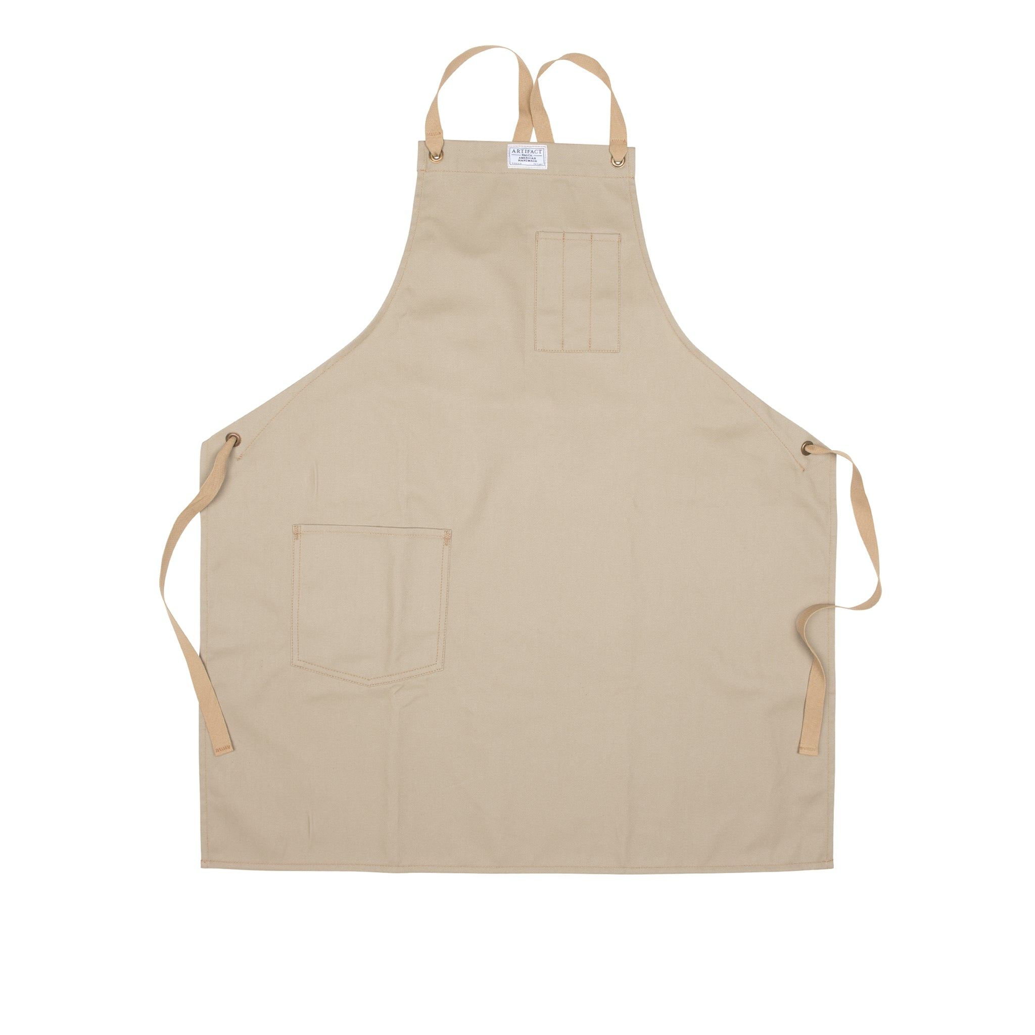 Brushed Twill Apron w/  Cotton Cross-Back Ties 10