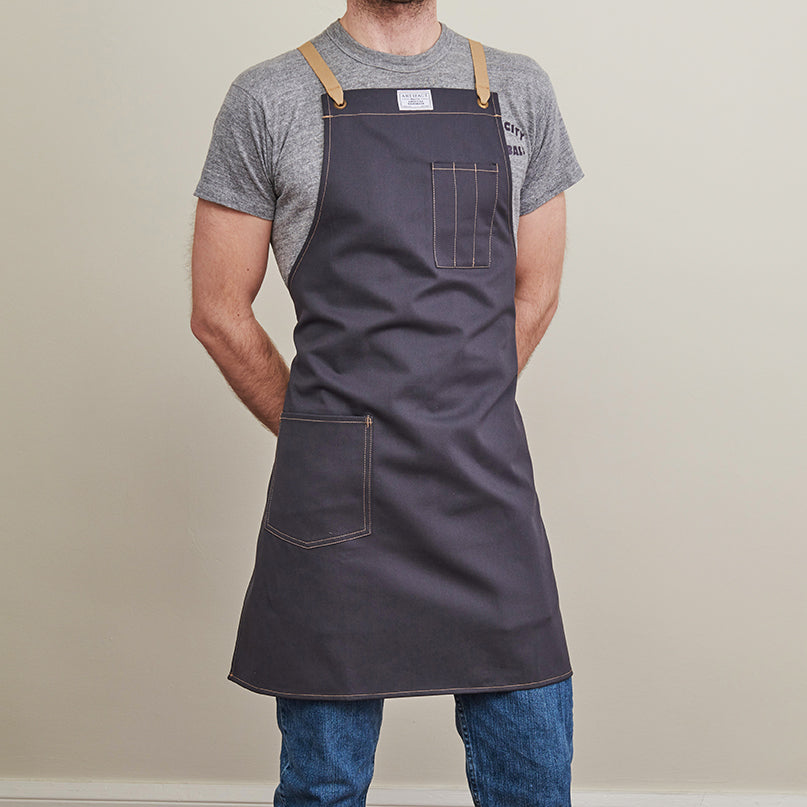 Brushed Twill Apron w/  Cotton Cross-Back Ties 4
