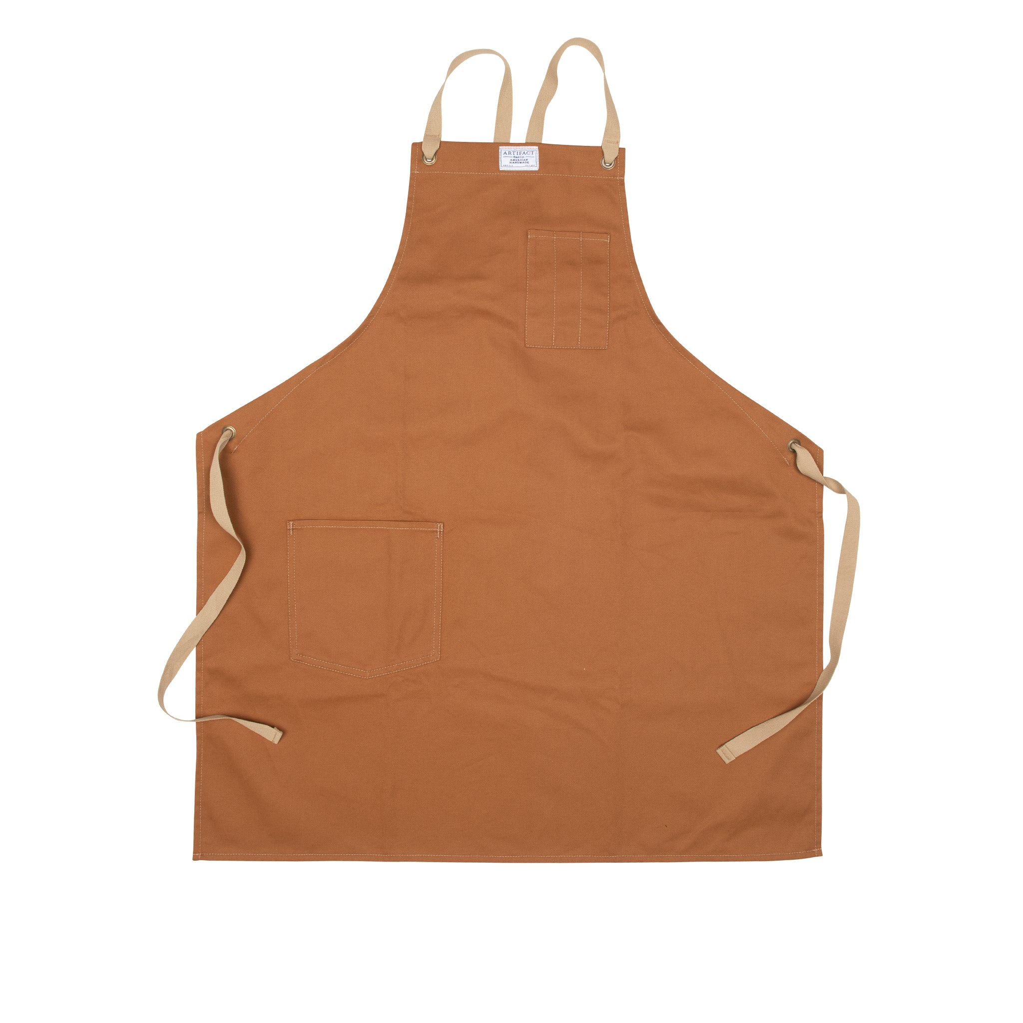 Brushed Twill Apron w/  Cotton Cross-Back Ties 12