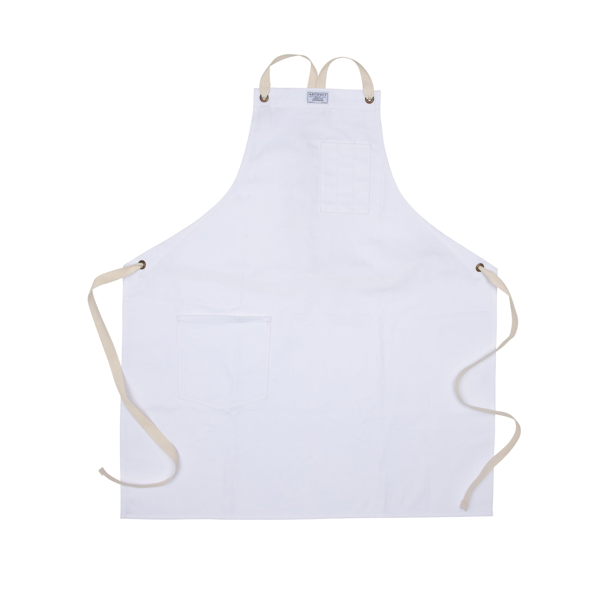 Brushed Twill Apron w/  Cotton Cross-Back Ties 11