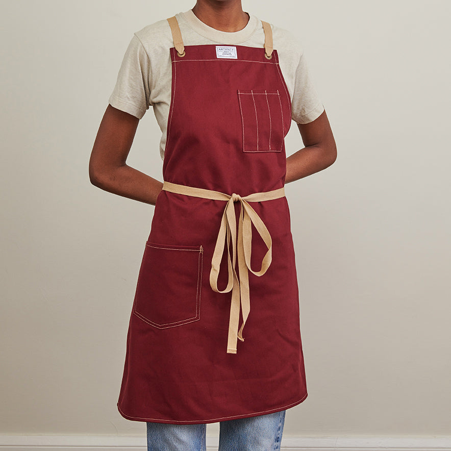 Brushed Twill Apron w/  Cotton Cross-Back Ties 3