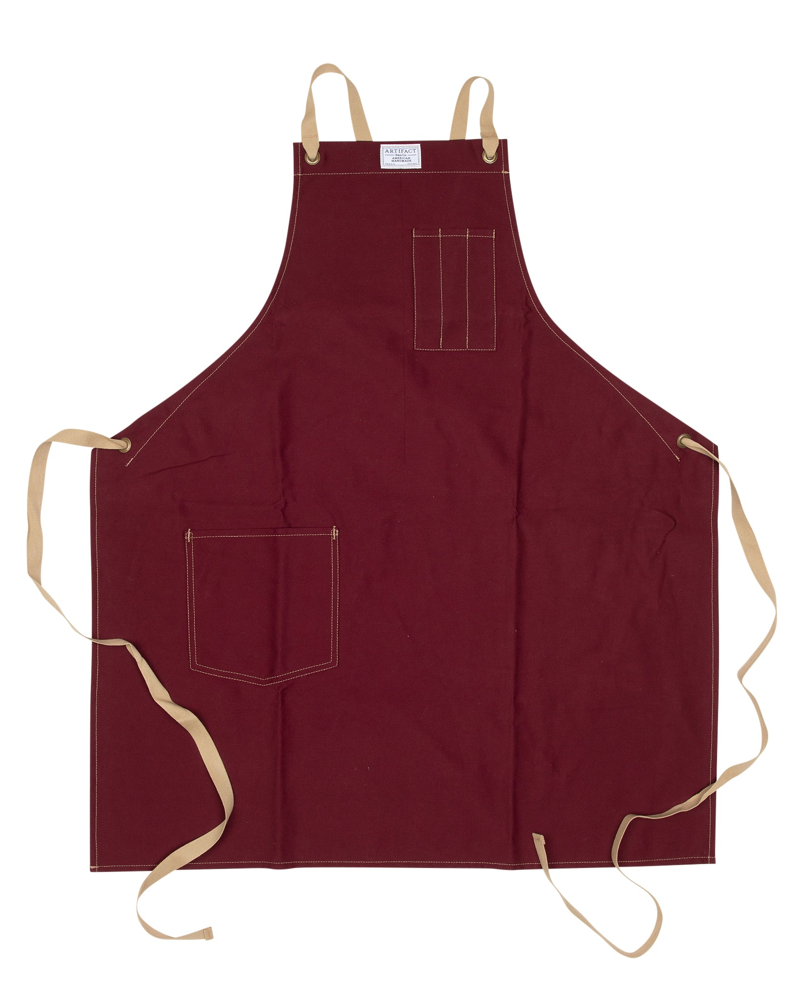 Brushed Twill Apron w/  Cotton Cross-Back Ties 1