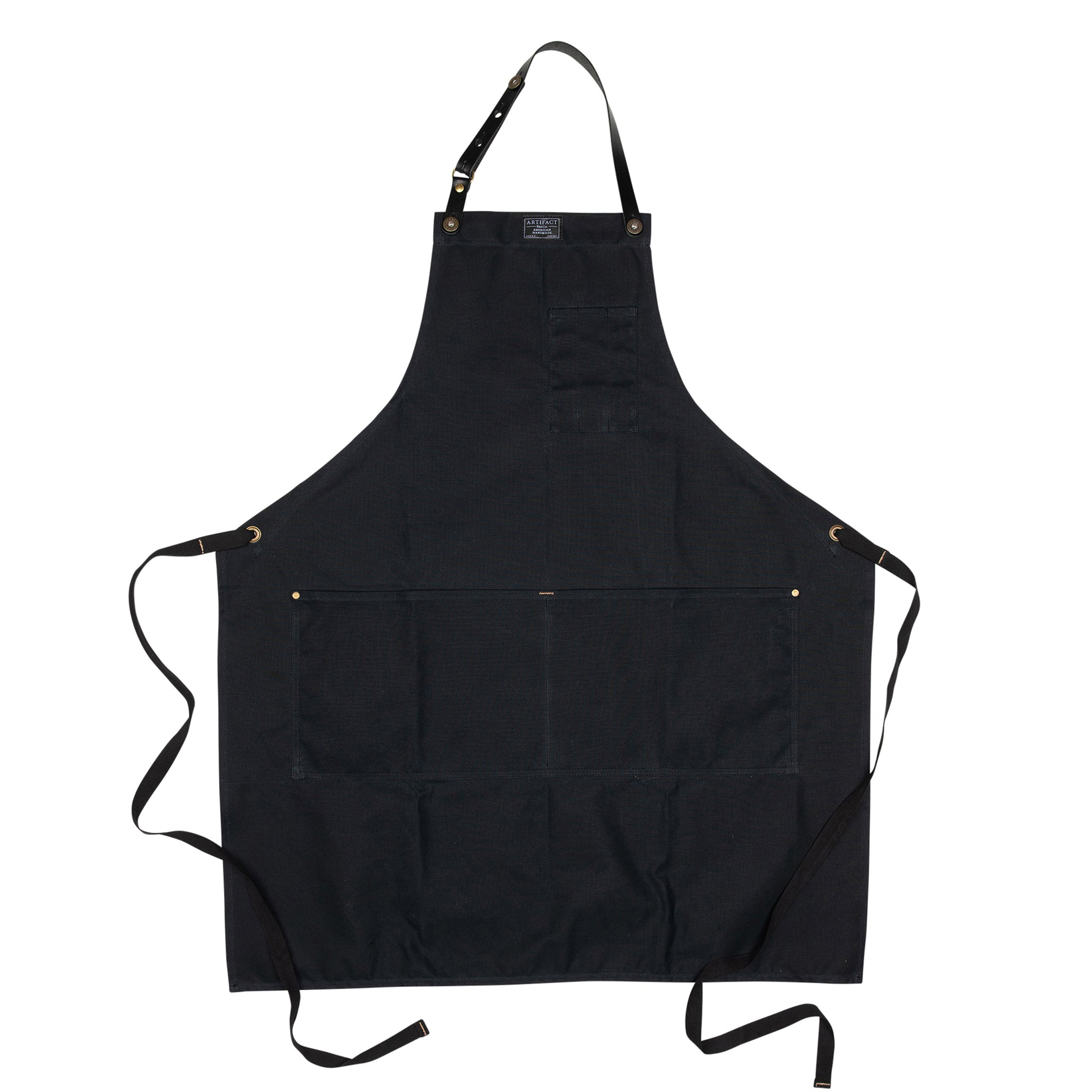 Artifact Slate Wax Cotton Apron w/ Leather Strap - Universal Fit