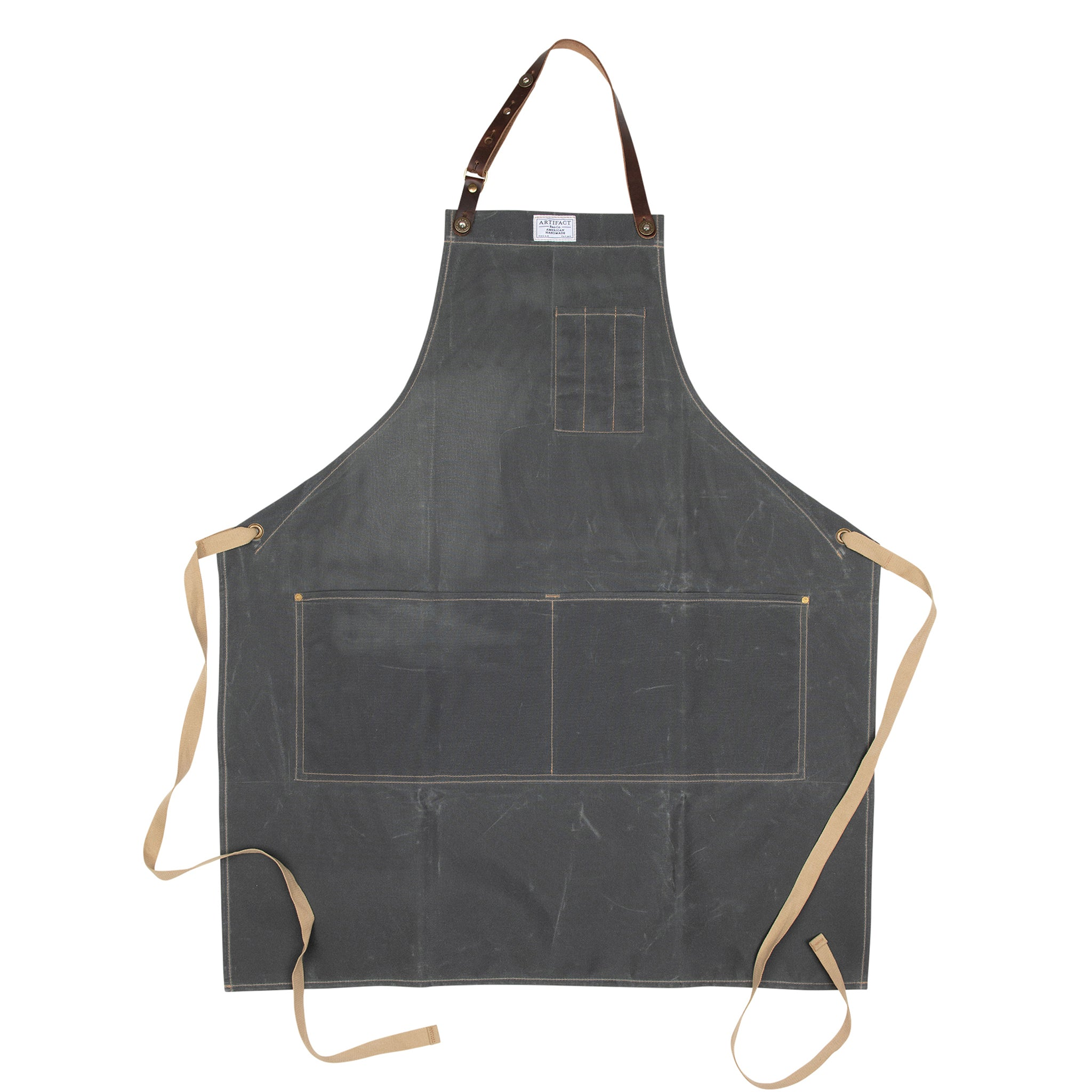 Artifact Bosc Pear Wax Cotton Apron w/ Leather Strap - Universal Fit