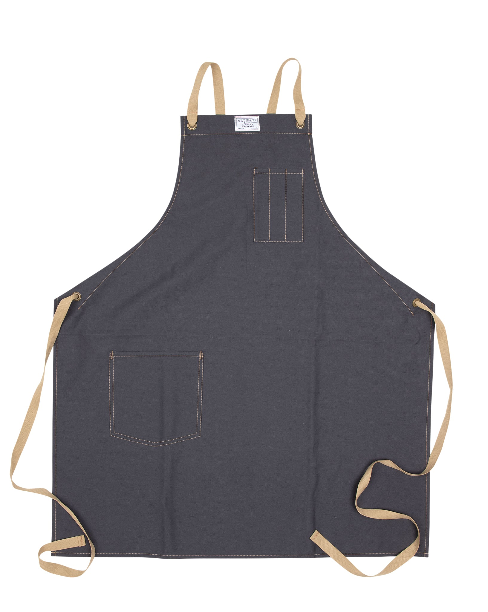 Brushed Twill Apron w/  Cotton Cross-Back Ties 7
