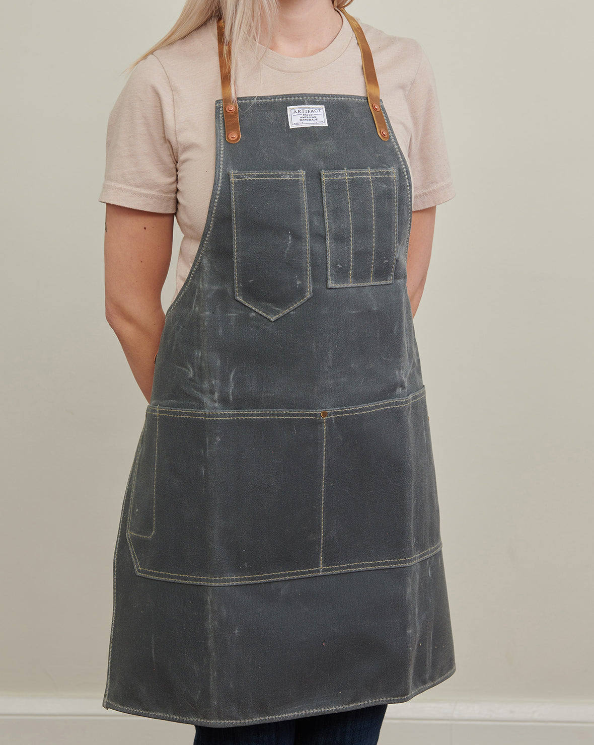 Wax Canvas Artisan w/ Leather Y-Strap - Artifact Aprons 3