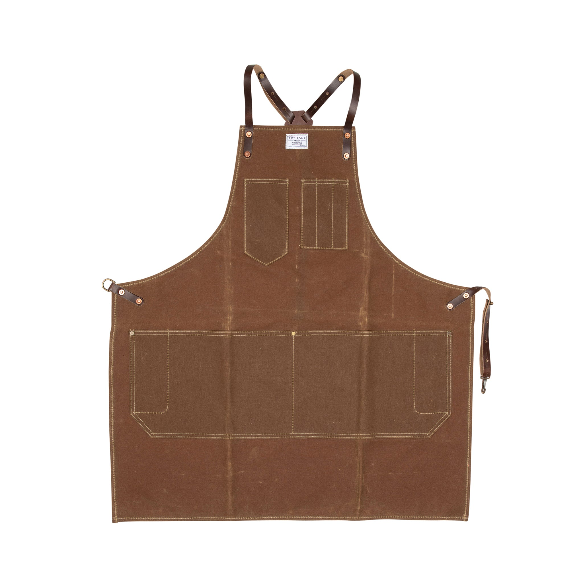 Wax Canvas Artisan w/ Leather Y-Strap - Artifact Aprons 6