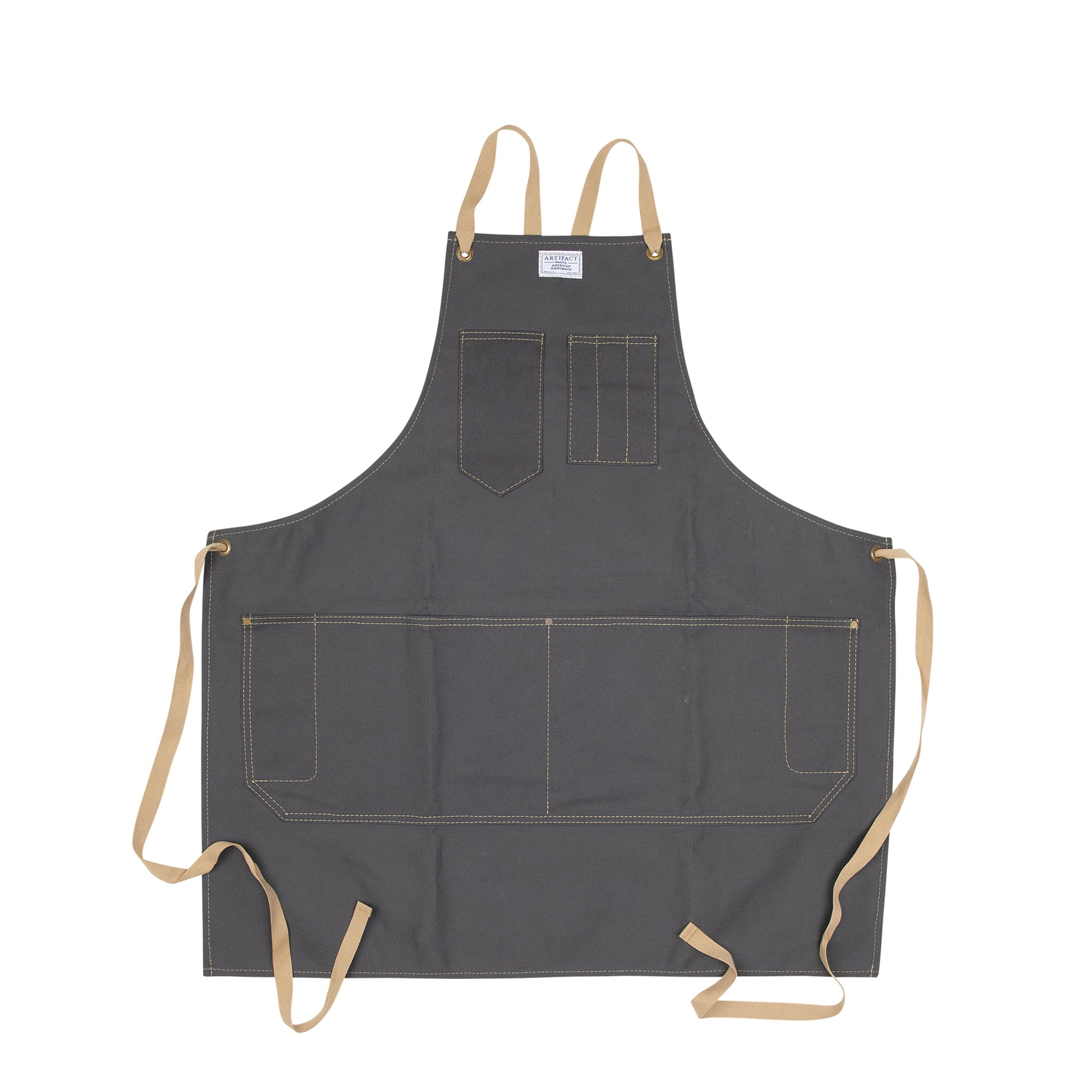 Duck Canvas Apron w/ Cotton Cross-Back Ties