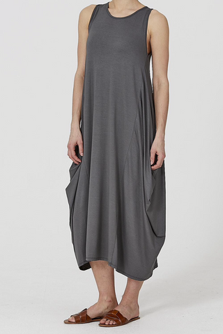 Dark Grey Sleeveless Maxi Dress