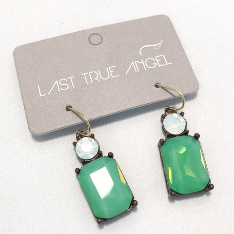 Gem Drop Earrings in Emerald