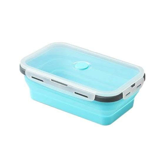 Collapsible Silicone Lunch Box - blue lunch box