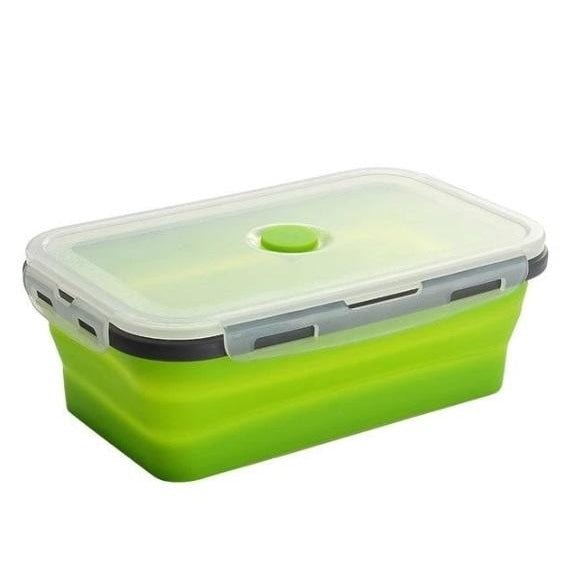 Collapsible Silicone Lunch Box - green lunch box