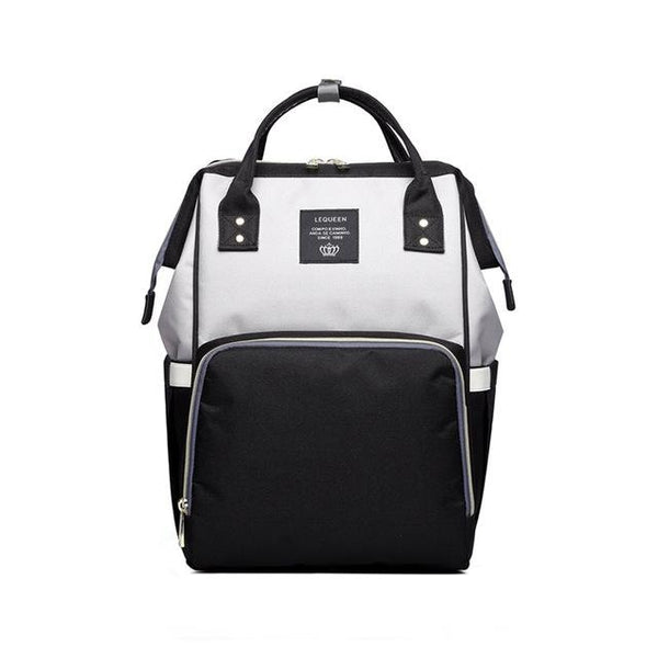 Diaper Travel Backpack - Black and grey