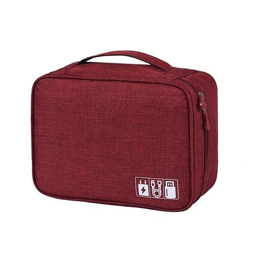 Digital Travel Organizer - Wine Red