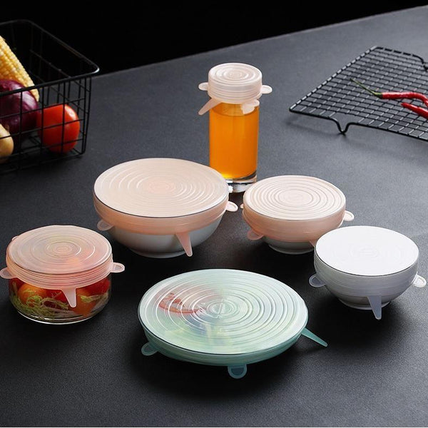 6 Piece Silicone Food Cover Set