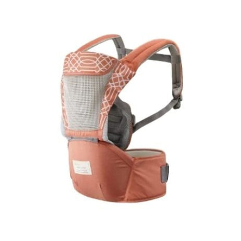 Ergonomic Baby Carrier - Orange patterned