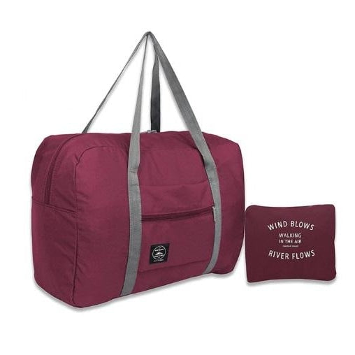Foldable Travel Bag - Claret