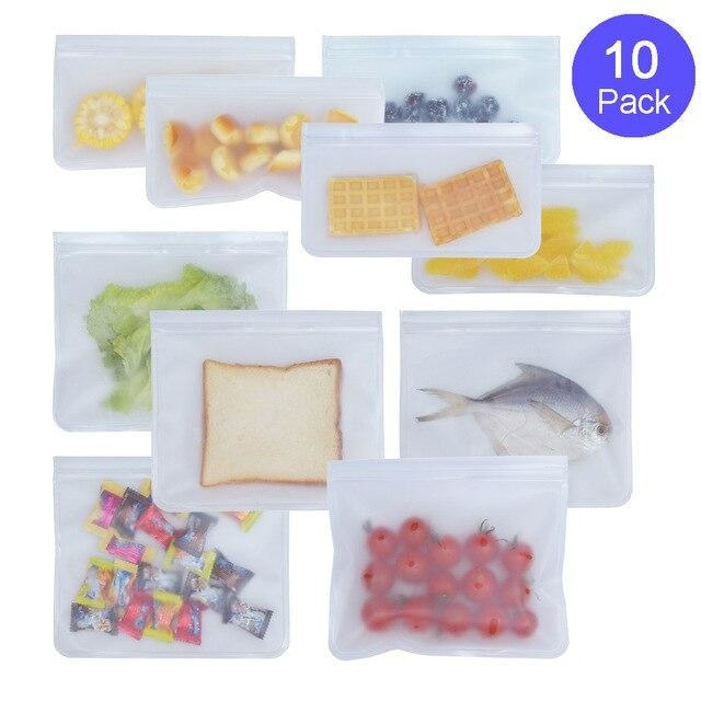 Food Storage Bags - 10 Piece Set