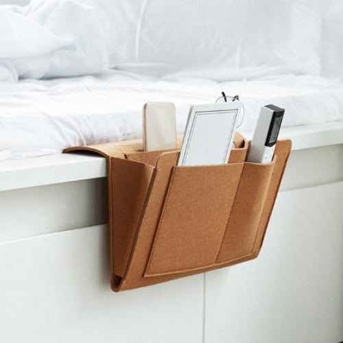 Hanging Bedside Organizer - Brown