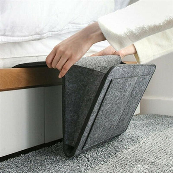 Hanging Bedside Organizer - Light gray