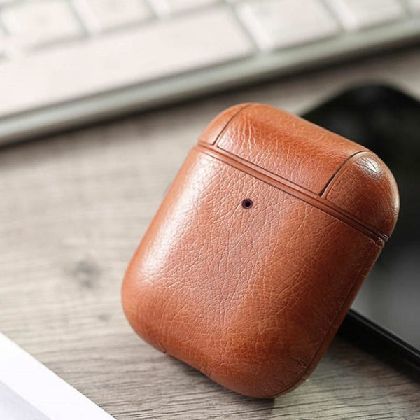 Luxury AirPod Cover - Light Brown