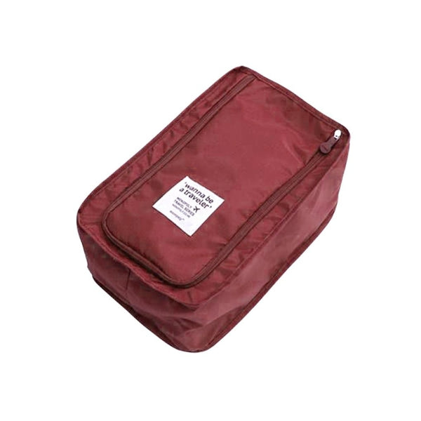 Travel Shoe Storage Bag - Wine